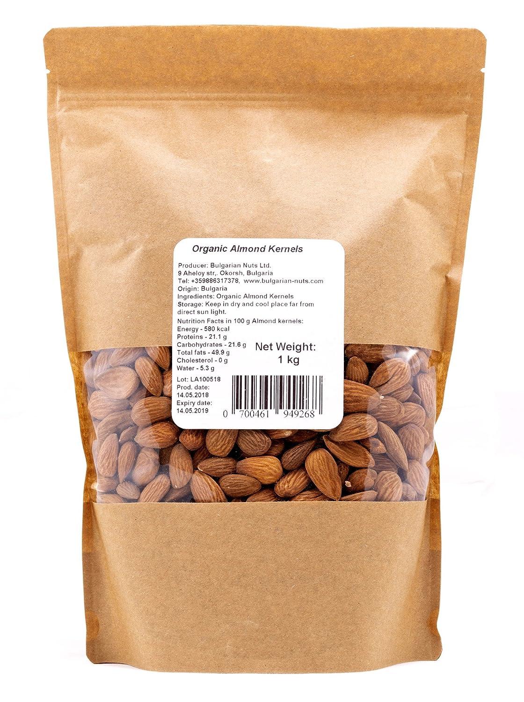 1 kg Granos de Almendra crudos ecológicos Supreme Large directamente de la granja de almendras BIO certificada en Bulgaria: Amazon.es: Alimentación y ...