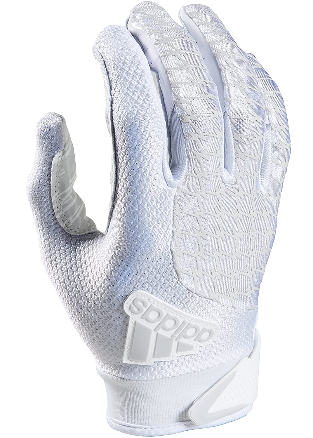 (Small, White/White) - Adidas Adifast 2.0 Youth Football Receiver Gloves B07235T1X3