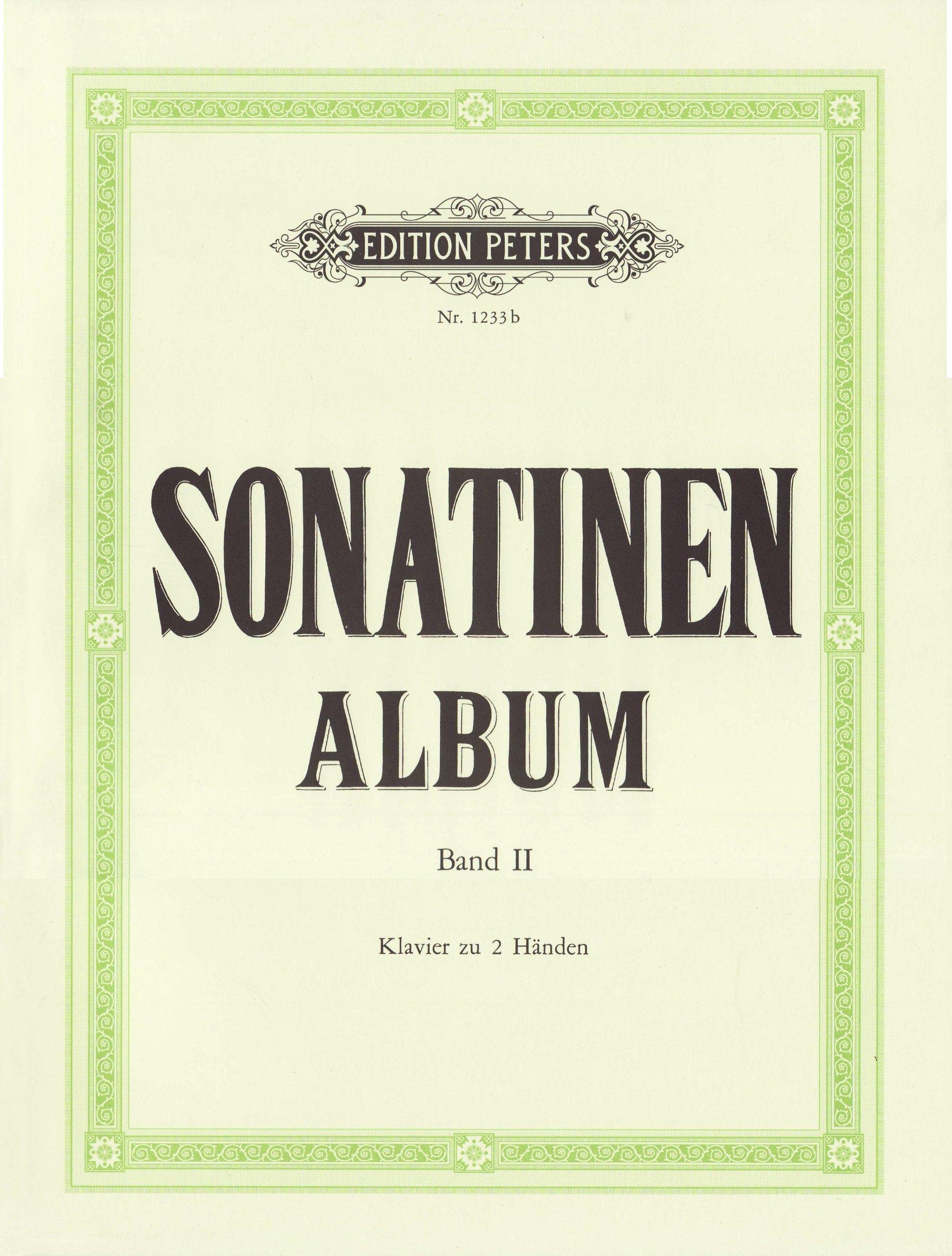 Sonatinen-Album, Band 2: Sonatinen und andere Stücke für Klavier Taschenbuch – 1. Januar 2000 Louis Köhler Adolf Ruthardt Peters C. F. Musikverlag