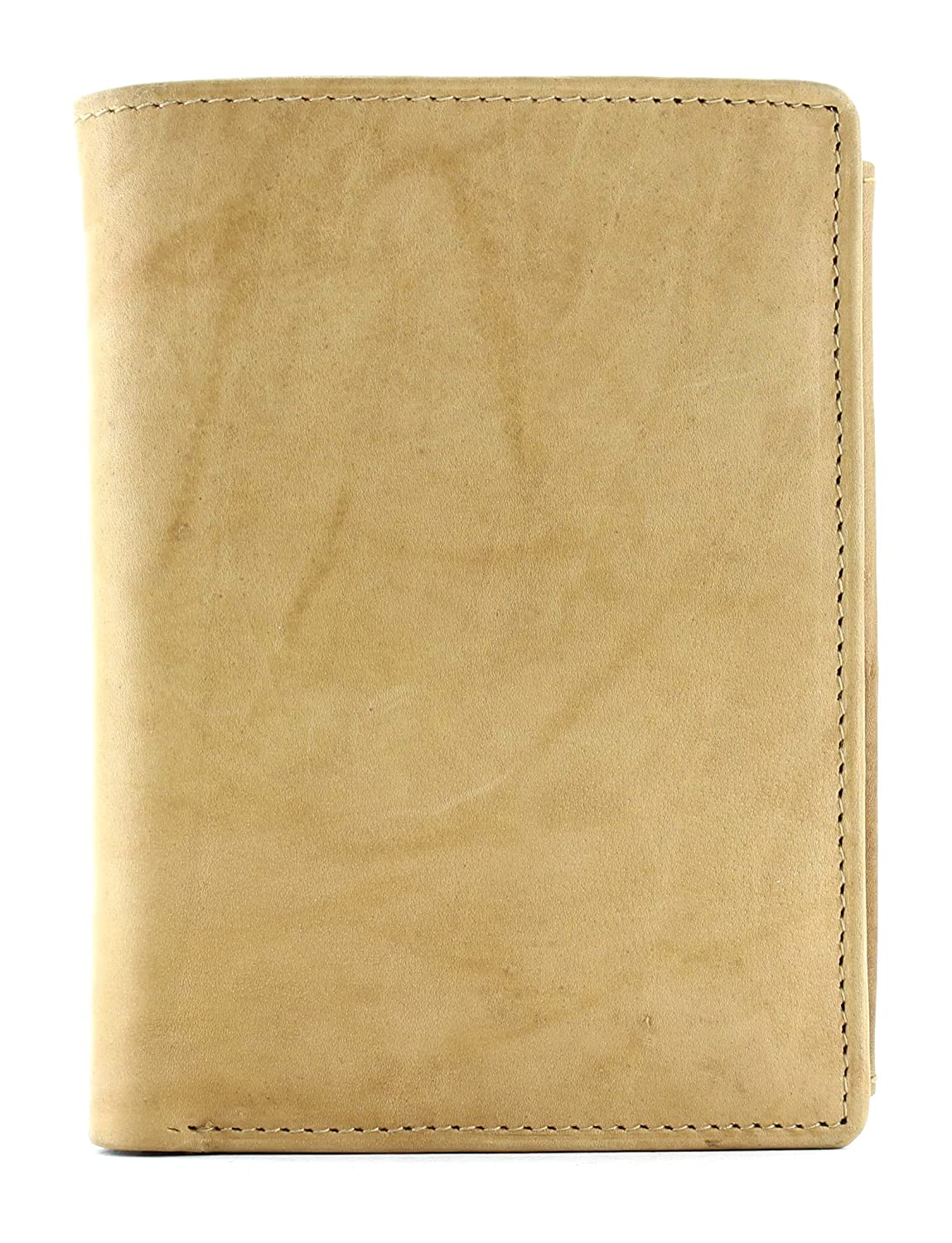 Bacci Top Grain Cowhide Deluxe Hipster With Coin Pocket Tan