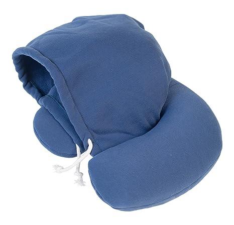 Travelstar TS-H-1000 - Cojín para cervicales con Capucha, Color Azul