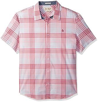 9219f5c86c8 Original Penguin Men s Short Sleeve Exploded Check in Lawn Woven Shirt