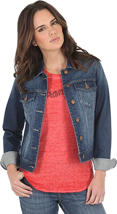 cc4198e1611a Wrangler Women s Western Fashion Denim Jacket