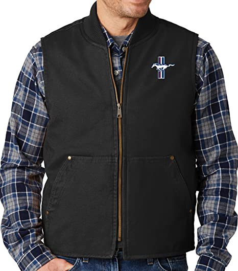 Buy Cool Shirts Mens Ford Mustang Gt Durable Work Vest At Amazon Mens Clothing Store
