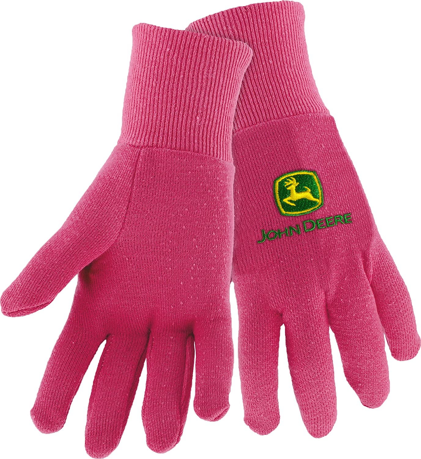 West Chester John Deere JD90003 Knit Polyester/Cotton Insulated Jersey Work Gloves: Pink, Women's One Size Fits Most, 1 Pair
