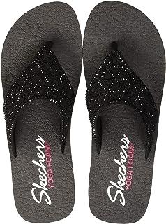 ceeb58270cb6 Skechers Womens Vinyasa - Glass Star - Laser Cut Rhinestone Flip Flop Flip- Flop