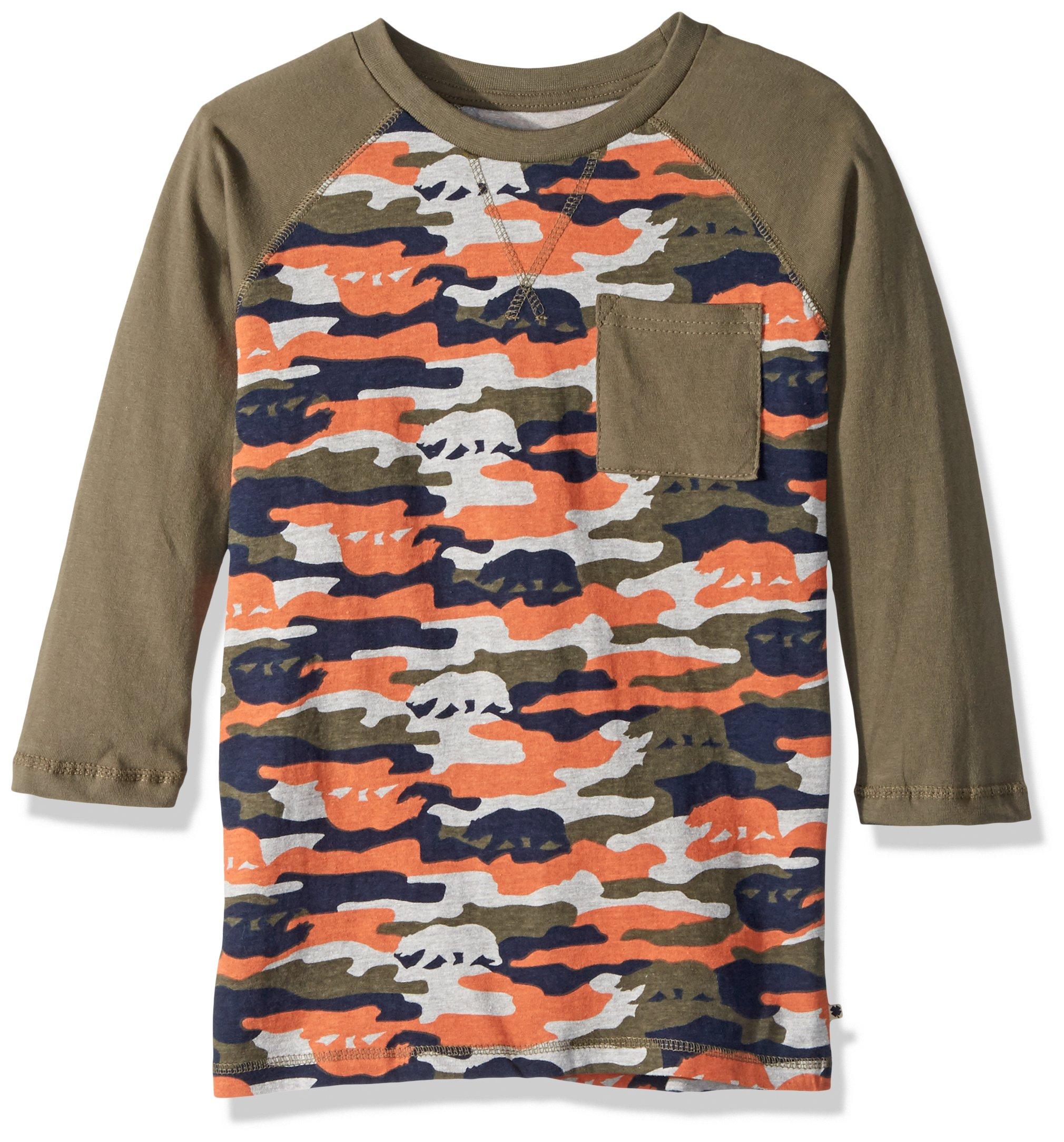 Lucky Brand Toddler' Boys' Camouflage Tee Shirt, Winter Moss camo, 2T
