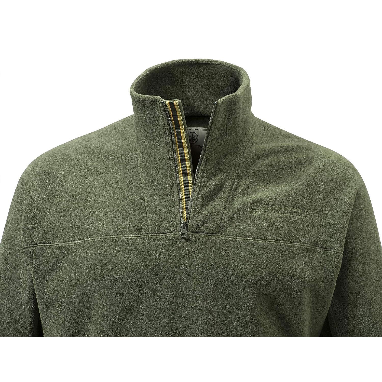 Beretta Half Zip Fleece Green Cold Weather Microfiber P3311