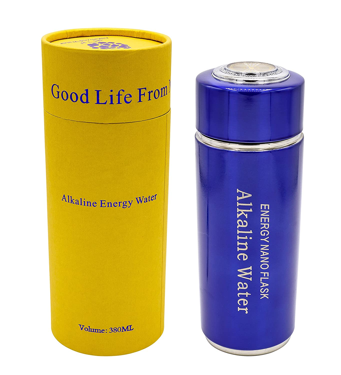 Alkaline bottiglia d' acqua, Alkaline Water Flask – Blu/Blue 380 ML chi-enterprise