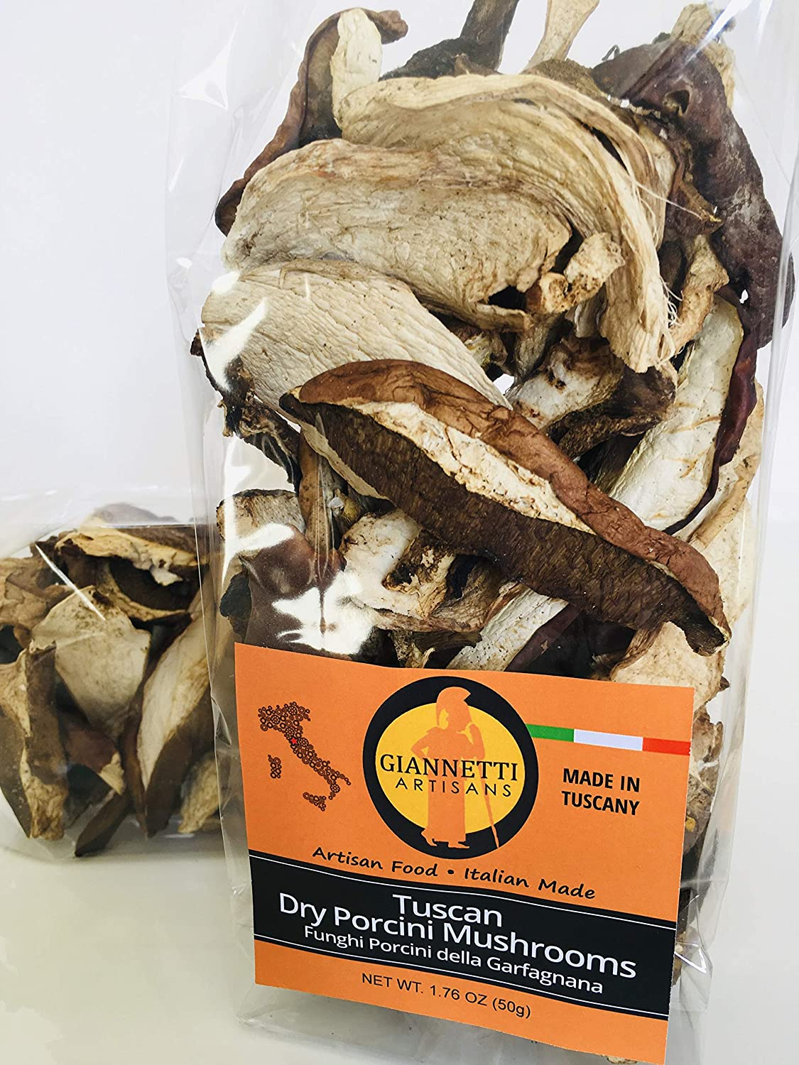 Giannetti Artisans Dried Italian Porcini Mushrooms (2020 Batch) - Imported from Tuscany (1.76 oz / 50 gr)