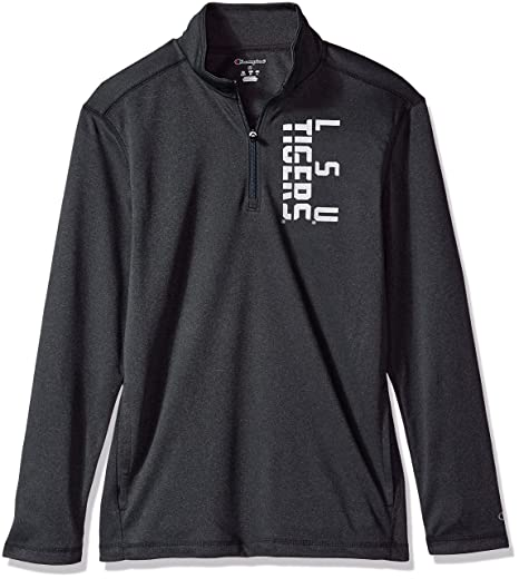 c2f858bdaf4b Amazon.com   Champion NCAA Mens NCAA Men s Stealth Quarter Zip ...