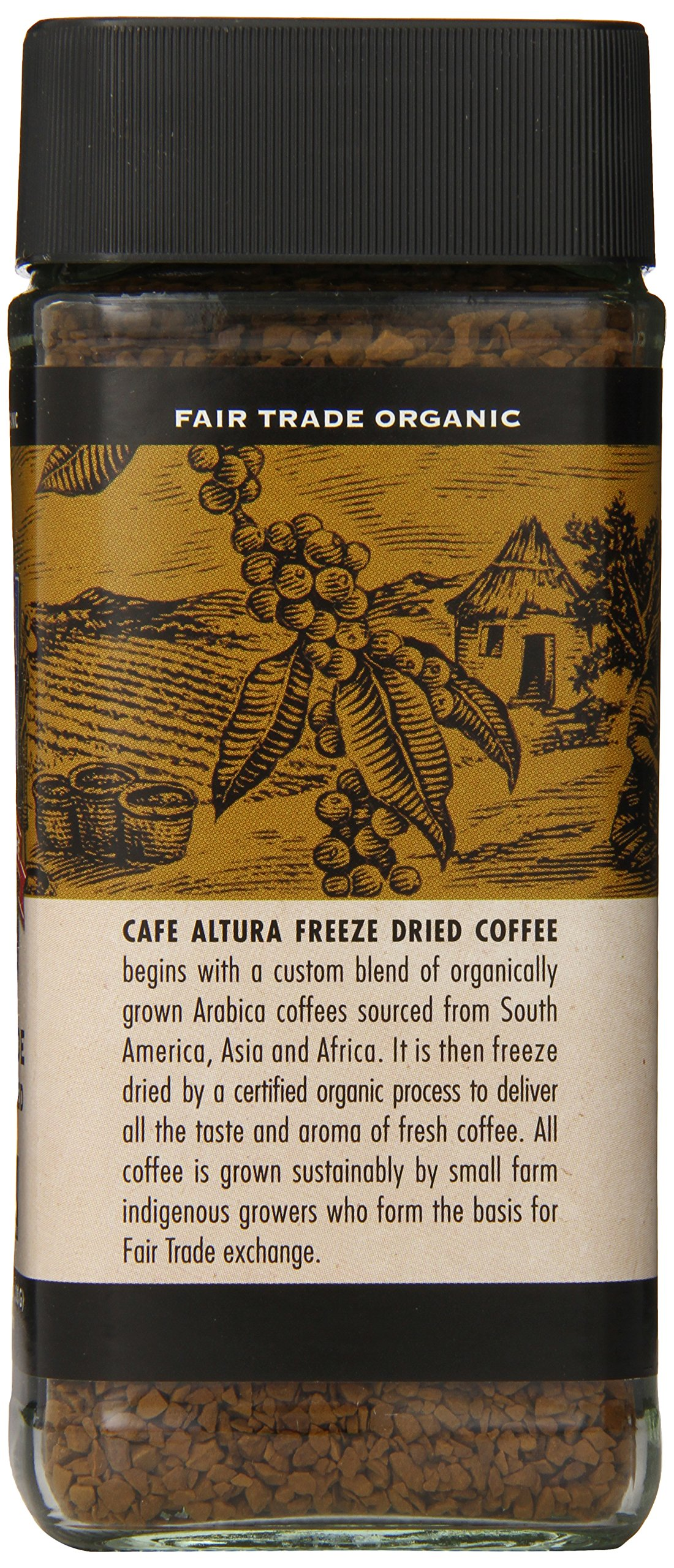 Cafe Altura Freeze Dried Instant Organic Coffee, 3.53 Ounce (Pack of 2) by Cafe Altura (Image #2)
