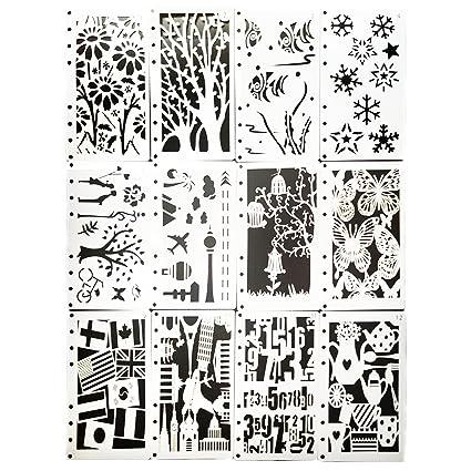 Misscrafts Plantillas De Dibujo 12 Unidades Para Manualidades - Dibujos-para-manualidades