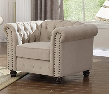 Amazon.com: U.S. Livings Lilyana Modern Living Room Sofa Set (Chair ...