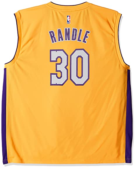 9010637ad Image Unavailable. Image not available for. Color  NBA Men s Los Angeles  Lakers Julius Randle Replica Player Jersey ...
