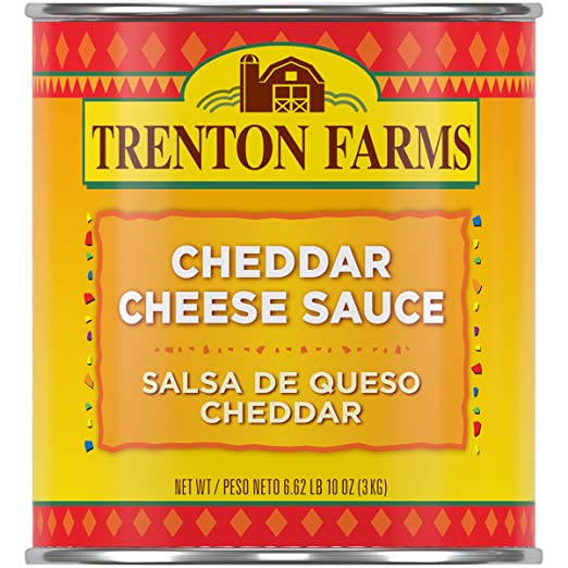 Amazon.com: Trenton Farms Cheddar Cheese Sauce, Nacho Cheese Sauce, 106-Ounce (Great for Snacks, Office)