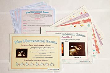 Uk Baby Shower Ultrasound Party Games 10 Player Unisex Lour