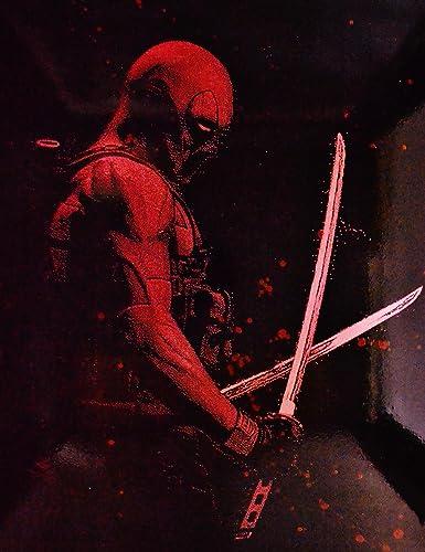 amazon com deadpool metal poster splatter spray paint art marvel