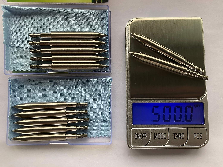 1 Dozen ORRANNI Stainless Steel Archery Field Points,Various Outside Diameter,150//175//200//250 Grains,Screw in Archery Field Tips