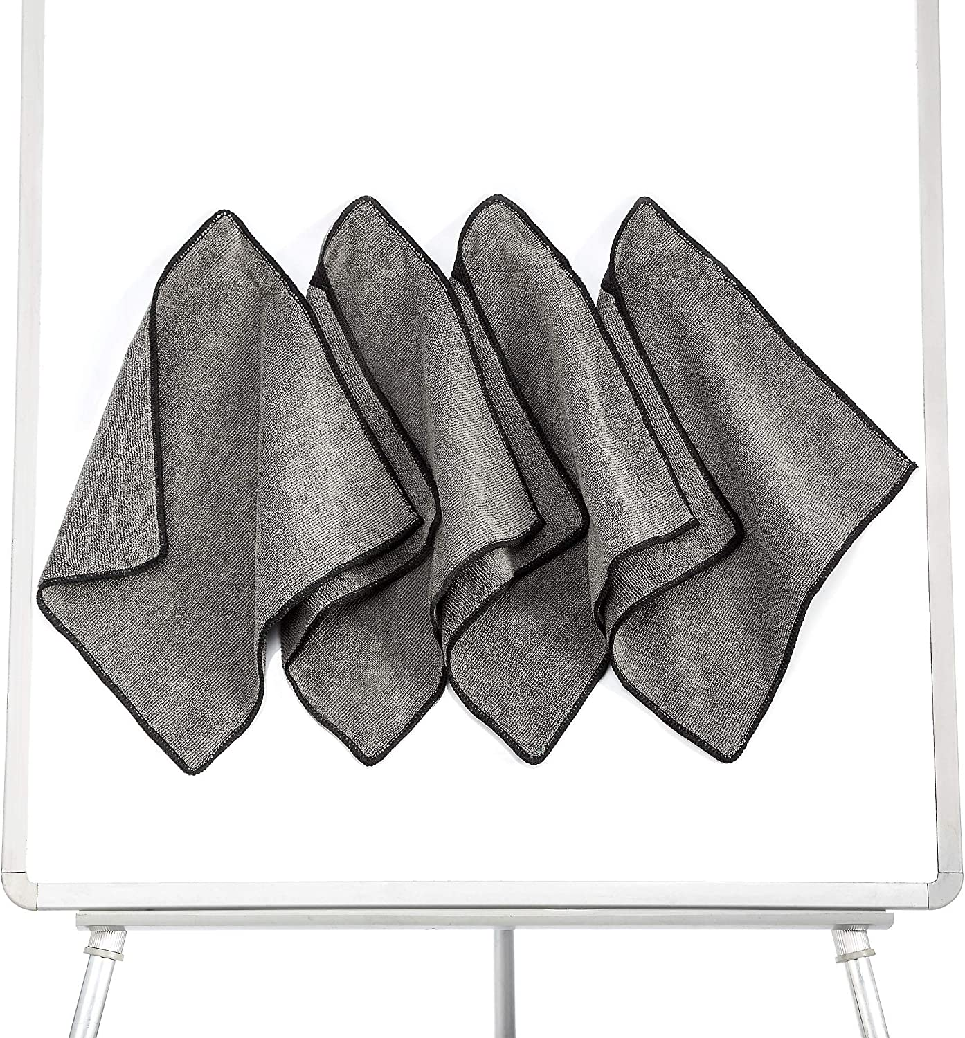 Microfiber Magnetic Dry Erase Eraser Cleaning Cloth for Whiteboards, Reusable and Washable Whiteboard Eraser Towels, Multipurpose Rags for Classroom,School, Office,Home,Kitchen (Pack of 4)