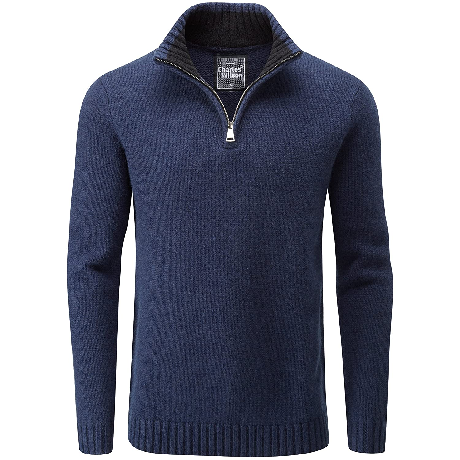 Charles Wilson Premium Blend Zip Neck Jumper