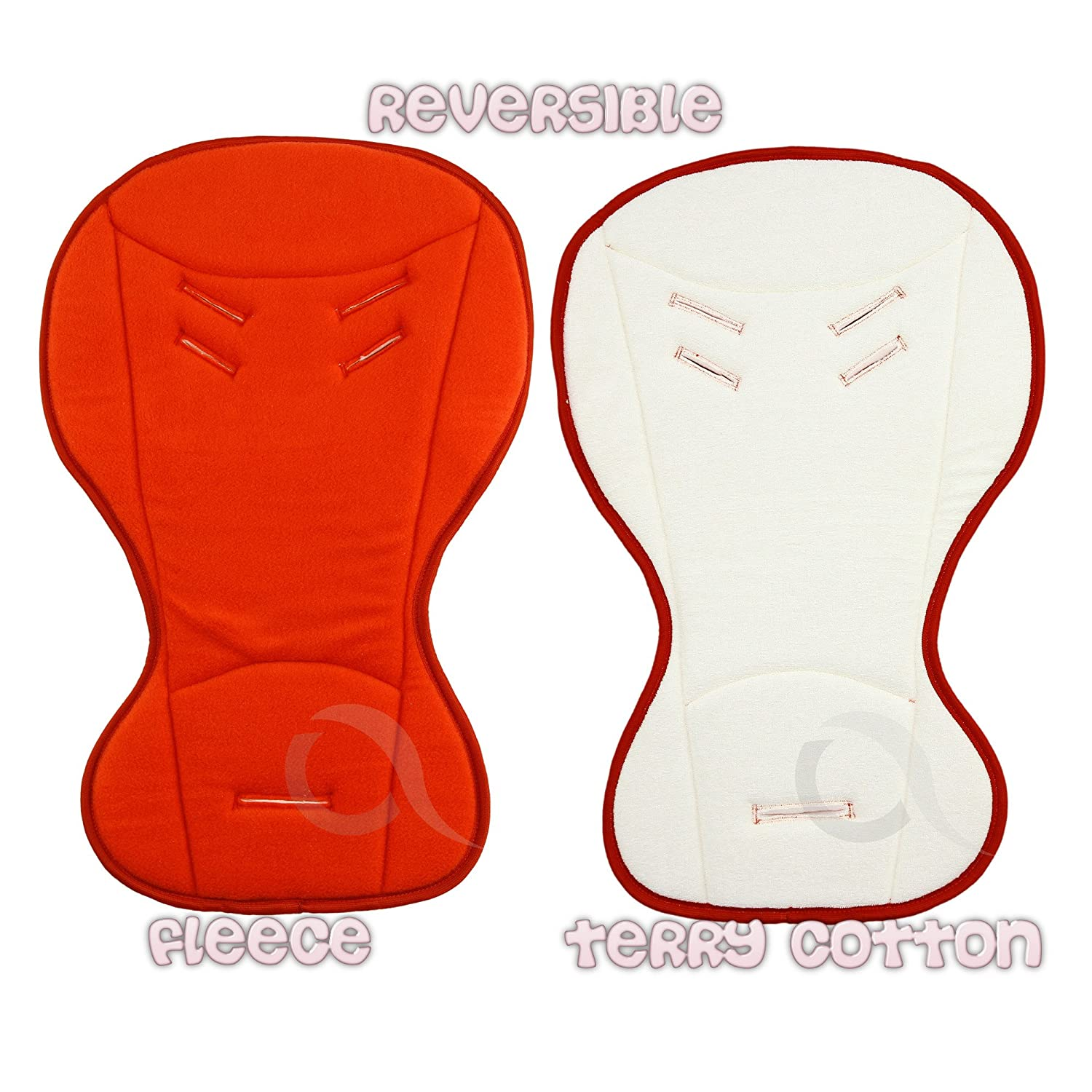 Baby car seat buggy INSERT LINER - REVERSIBLE Summer and Winter 2-in-1 ( red ) olobaby