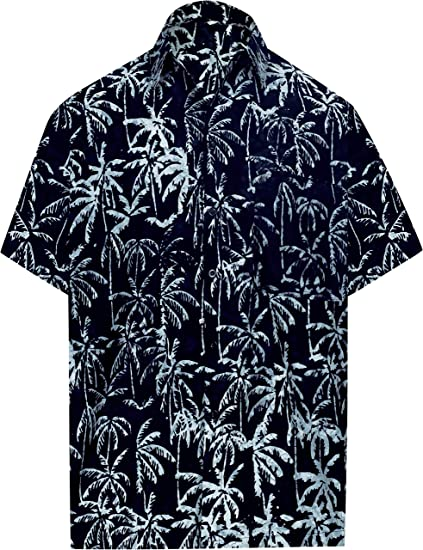 d01a14ff LA LEELA Short Sleeve Casual Button Down Front Pocket Beach Tropical Swim Hawaiian  Shirt for Men at Amazon Men's Clothing store: