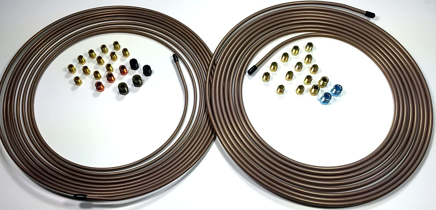 25 ft Roll of 3/16 AND 1/4 Copper Nickel Tube with Fittings The Stop Shop