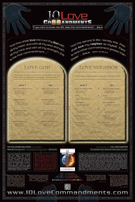 Amazon.com: 10 Love Commandments Poster (24 x 36): Posters & Prints