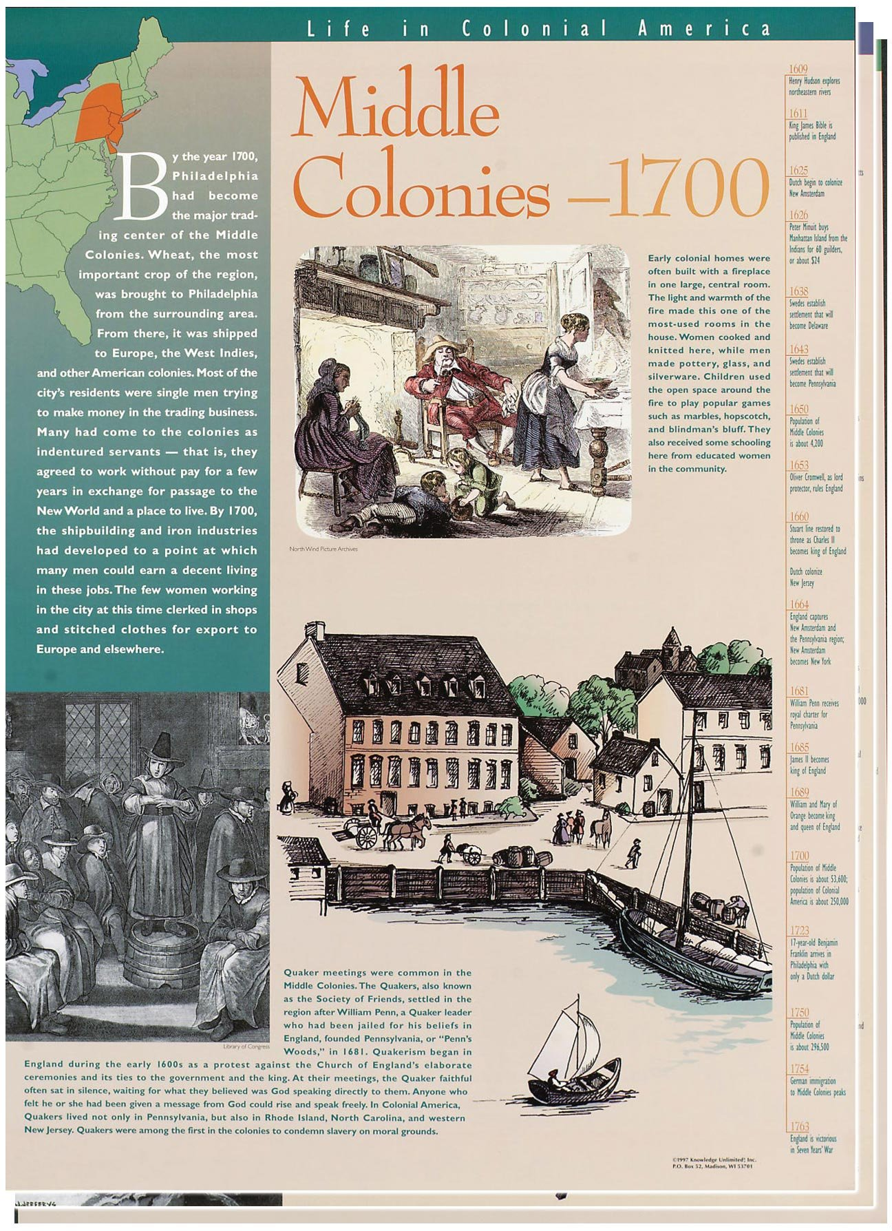 Colonial America -Classroom Poster Set by Knowledge Unlimited Inc.