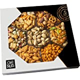 Oh! Nuts Exotic Snacks Party Assortment Food Gift Set |Christmas Holiday or Family Game Night Basket |Unique Snack Baskets, Spicy & Hot Cajun Assortment Tray Thanksgiving, Fathers & Mothers Day Gifts