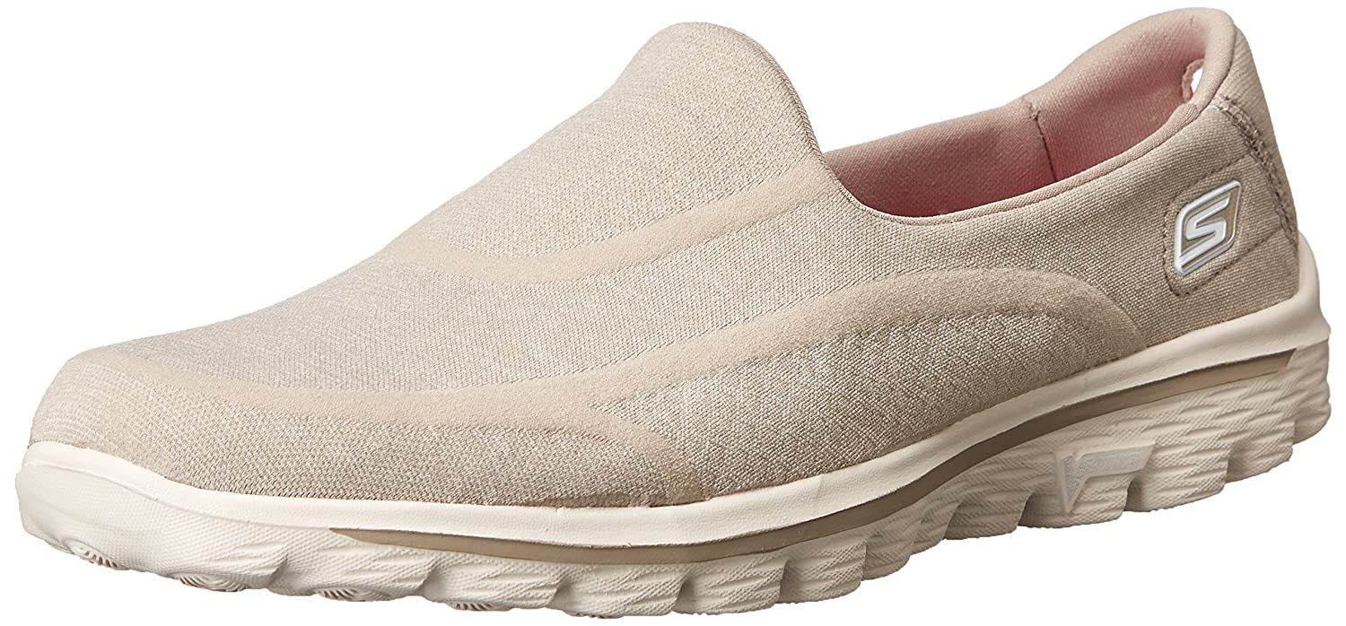 Skechers Performance Women's Go Walk 2 Super Sock 2 Slip-On Walking Shoe B00HSICBZE 10 B(M) US|Old Taupe