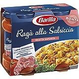 Barilla - Ragù alla Salsiccia, Ricetta Saporita, Carne Selezionata da Filiera Controllata, 2 Porzioni per Barattolo - 2 Barattoli