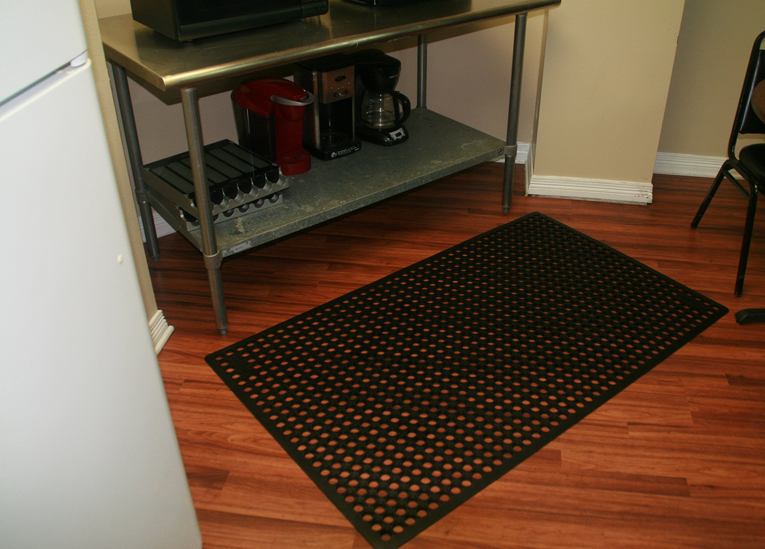 Rhino Mats KCT-3660B K-Series Comfort Tract Anti-fatigue Drain-thru Mat, 3' x 5', Black by Rhino Mats (Image #8)