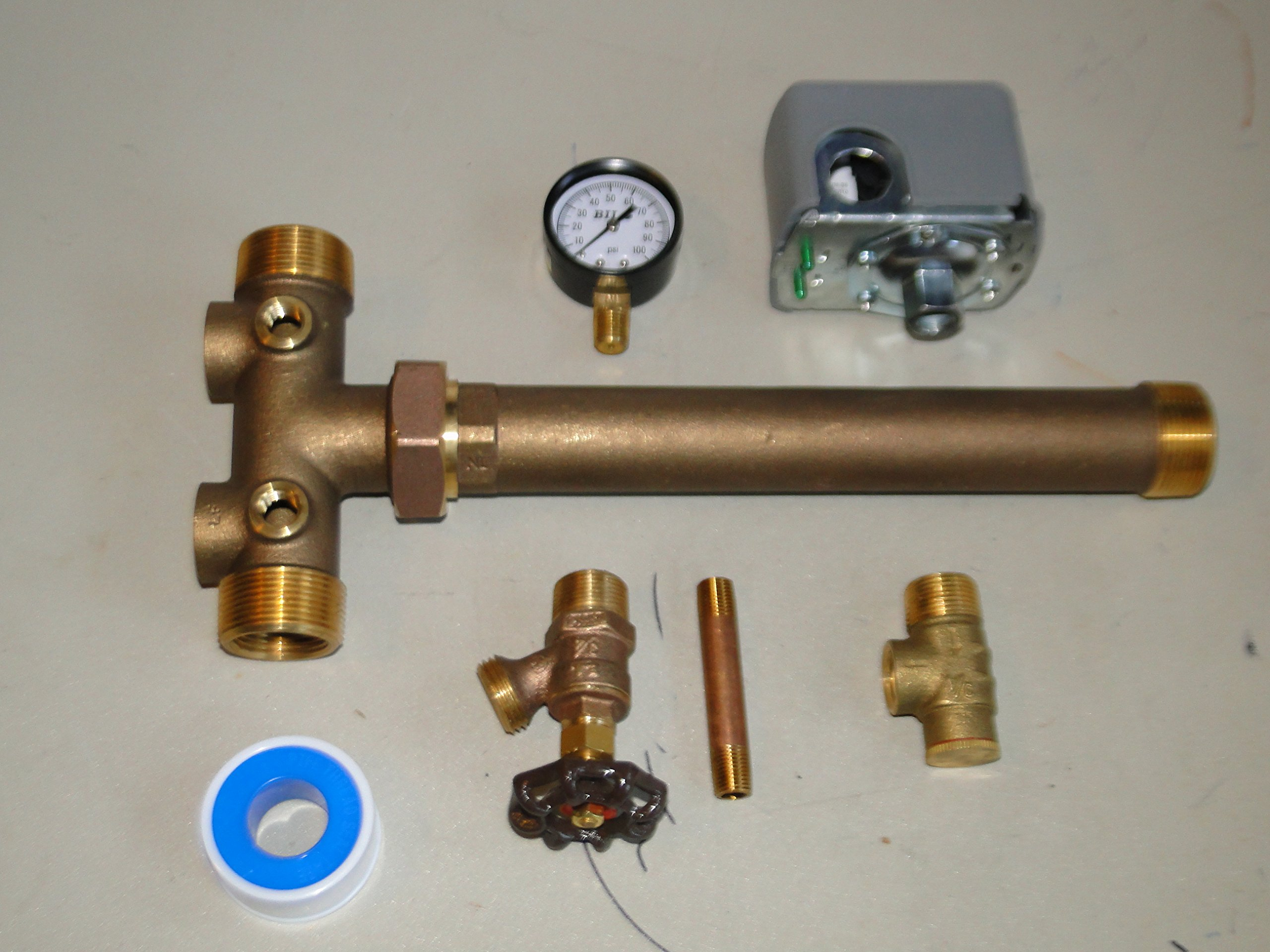 1 x 11 Tank Tee with UNION Kit Installation Water Well Pressure Tank with SQUARE D 40/60 pressure switch NO LEAD