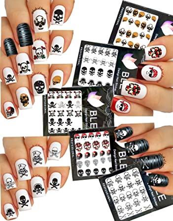 Amazon Pirate Theme Nail Art Water Tattoo Stickers Decals