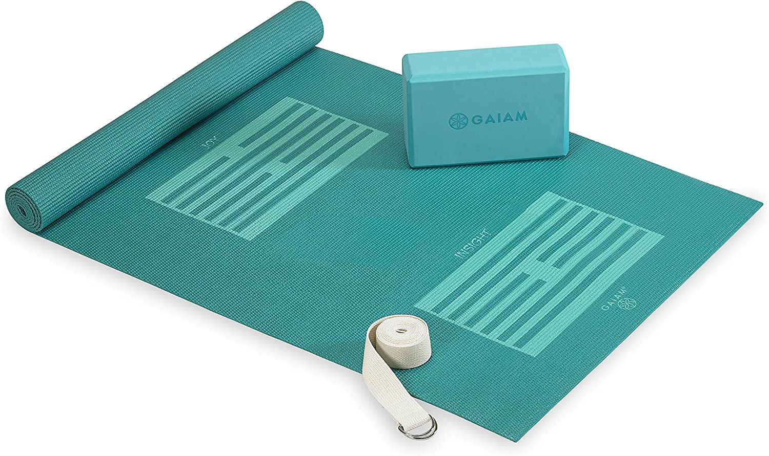 Gaiam Beginners Yoga Starter Kit (Yoga Mat, Yoga Block, Yoga Strap)