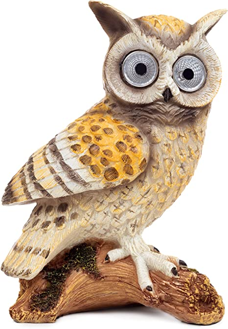 Solar Powered Bright Eye Owl Light Up Eyes LED Garden Lights Ornament Outdoor