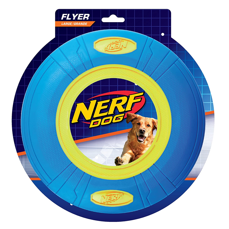 Azul//Amarillo 25.4/cm Nerf Dog vp6879e Fetch Flyer