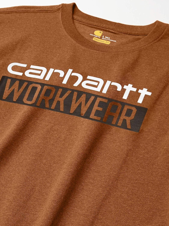 Carhartt Mens Long-Sleeve Original Fit Heavyweight Long-Sleeve Workwear Graphic T-Shirt