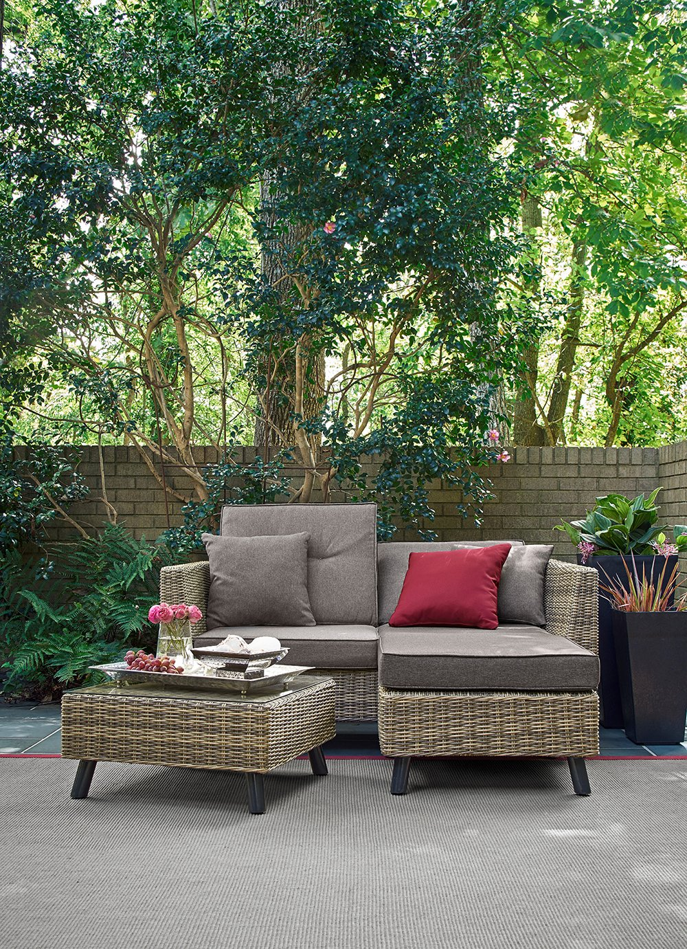Relax A Lounger Montgomery Outdoor Convertible Sofa