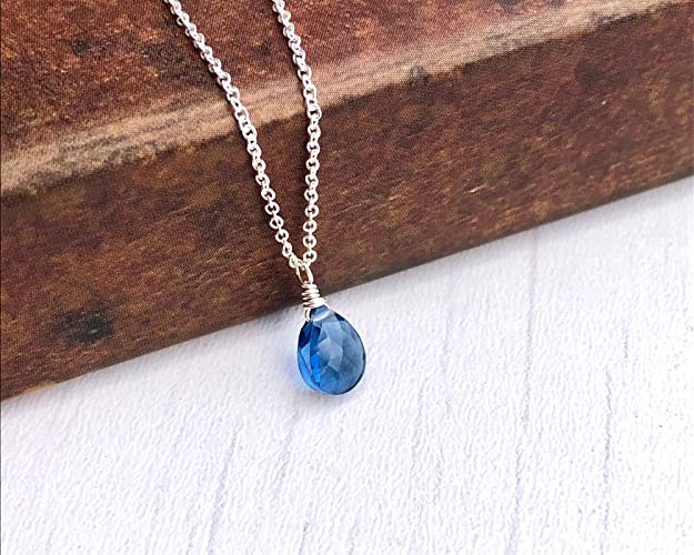 Blue Sapphire Ombre Necklace September Birthstone Sapphire Jewelry Gemstone Necklace Something Blue Shaded