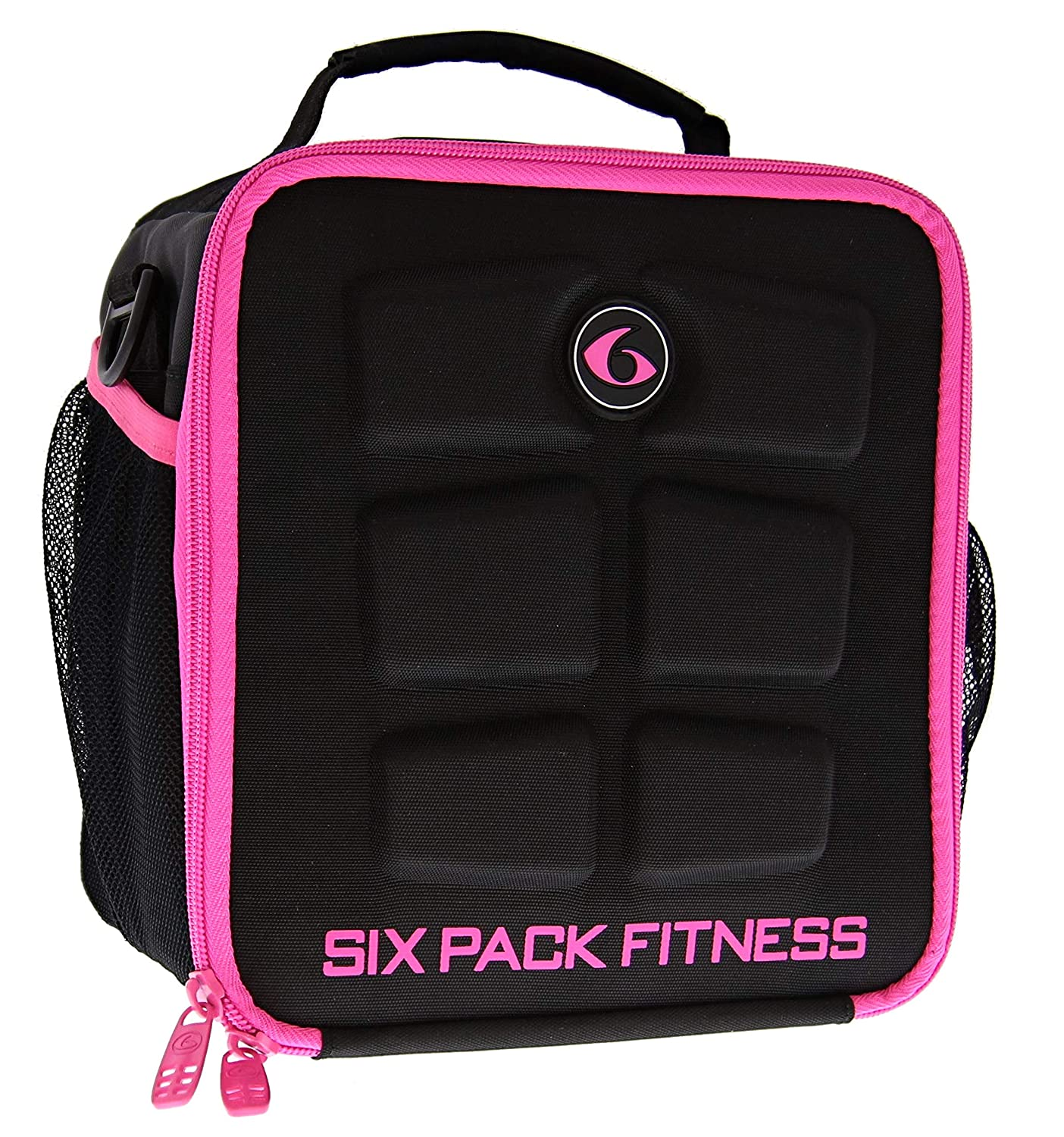 Black//Red 6 Pack Fitness Cube Americas #1 Choice in Meal Management 3 Meal