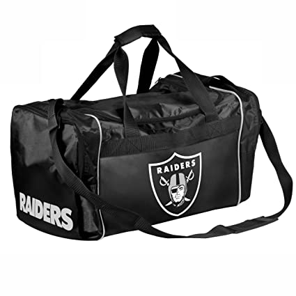 7cd71b34f68 Image Unavailable. Image not available for. Color  Forever Collectibles NFL  Oakland Raiders Core Duffel Bag