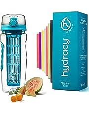 Hydracy Bouteille à Infusion de Fruits avec Etui Isotherme Anti-Condensation et Long Infuseur - Grande capacité 1Litre - sans bisphénol A - Votre Hydratation Santé avec du Goût!