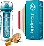 Hydracy Fruit Infuser Water Bottle - 32 Oz Sports Bottle with Full Length Infusion Rod and Insulating Sleeve Combo Set + 27 Fruit Infused Water Recipes eBook Gift - Your Healthy Hydration Made Easy