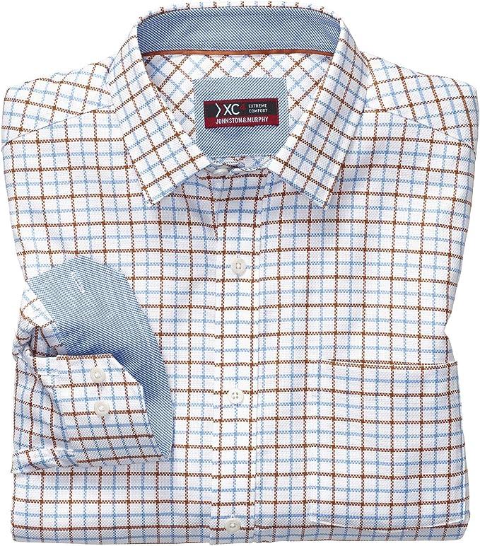 Johnston & Murphy XC4 Link - Camisa con cuello en punta para ...