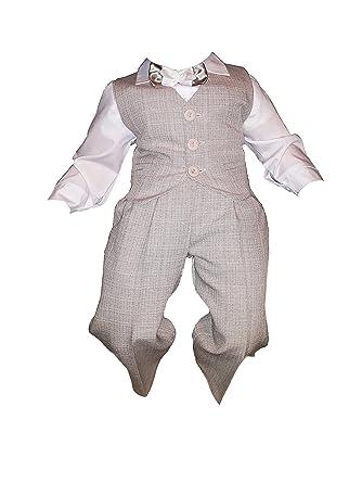 taufanzug Fijo Kimono, niño, 5 Piezas, Beige de Color Blanco, bebé ...