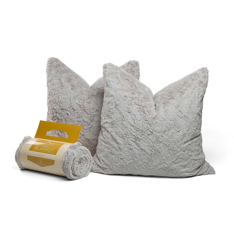 HTB-LUX-GRY-5060 Grey Sentiments Inc Chateau by Sheri Throw Blanket 50x60