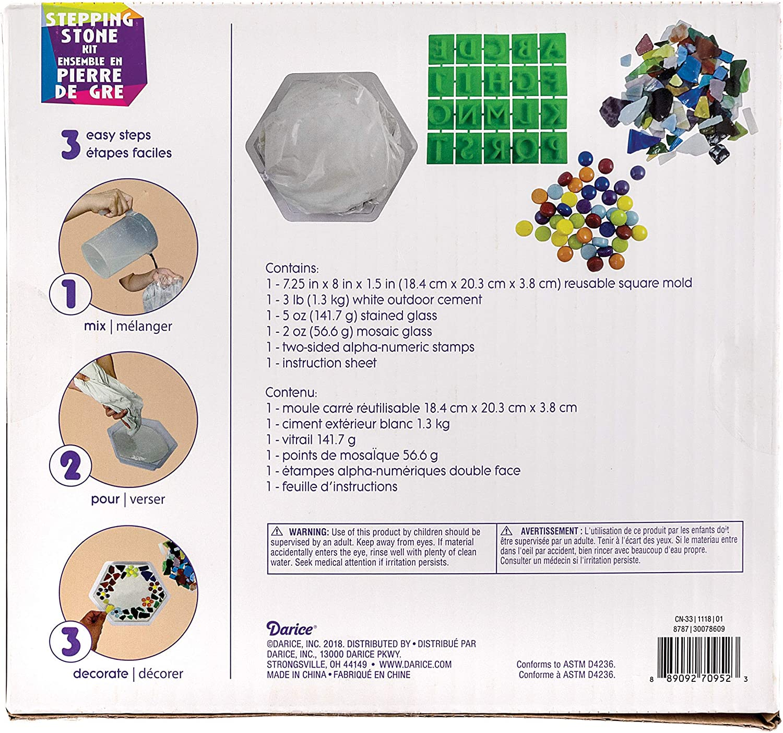 20 Pieces Darice 300720609 Stepping Stone Kit Hexagon Multicolor ...